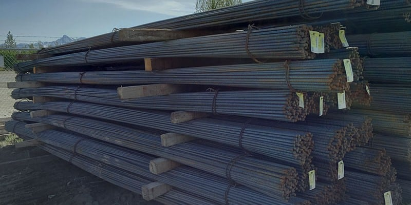 Stack of 1-ton Bundles of Rebar