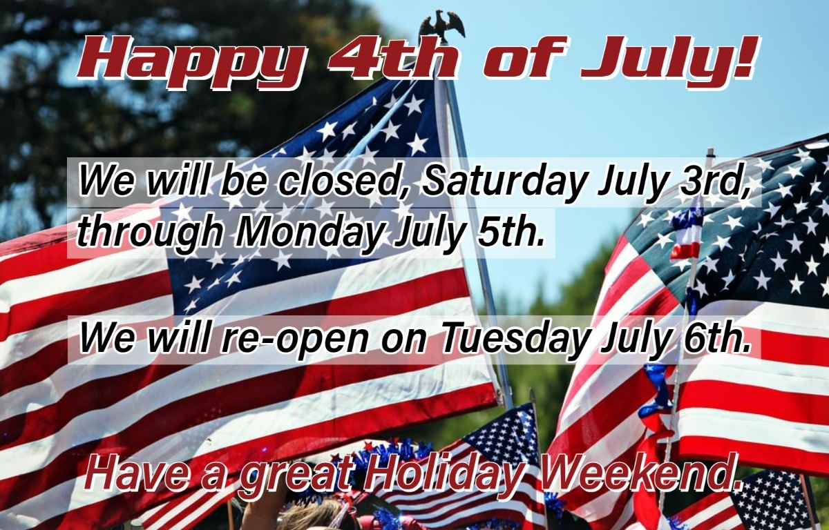 4th of July Holiday Hours 2021