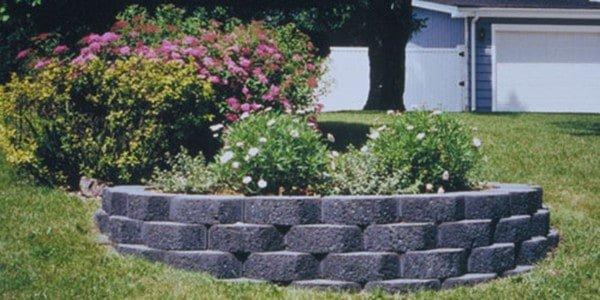 Garden Wall Block Planter Flowers