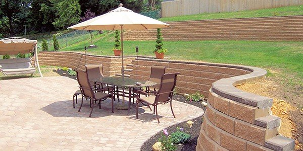 Allan Block Retaining Wall Block Pavers Octo Patio